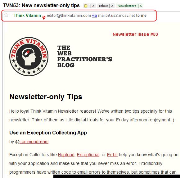 Gmail Sender Information