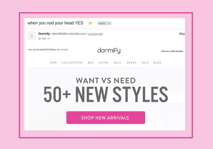 Example of short and simple email subject lines