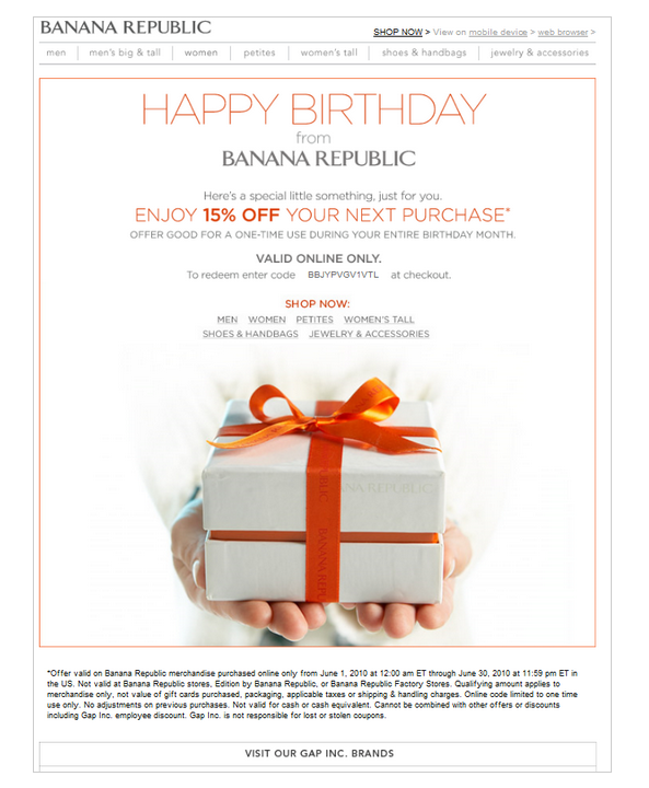 Example of Personalized Email